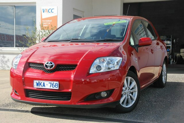 Used Toyota Corolla ZRE152R Conquest Wendouree, 2008 Toyota Corolla ZRE152R Conquest Red 4 Speed Automatic Hatchback