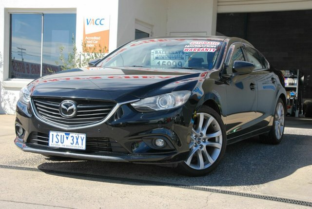 Used Mazda 6 6C Atenza Wendouree, 2013 Mazda 6 6C Atenza Black 6 Speed Automatic Sedan