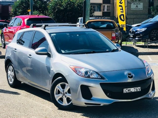 Used Mazda 3 BL10F2 Neo Activematic Liverpool, 2012 Mazda 3 BL10F2 Neo Activematic Silver, Chrome 5 Speed Sports Automatic Hatchback