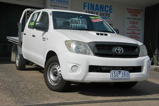 2010 Toyota Hilux KUN16R MY11 Upgrade SR White 5 Speed Manual Dual Cab Pick-up.