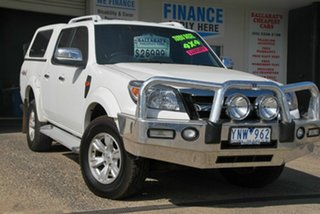 2010 Ford Ranger PK Wildtrak (4x4) White 5 Speed Automatic Dual Cab Pick-up.