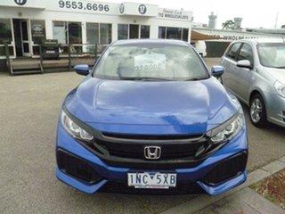 2018 Honda Civic 10th Gen MY18 VTi Blue 1 Speed Constant Variable Hatchback.