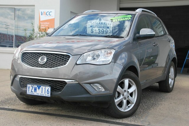 Used Ssangyong Korando C200 SX Wendouree, 2011 Ssangyong Korando C200 SX Silver 6 Speed Automatic Wagon