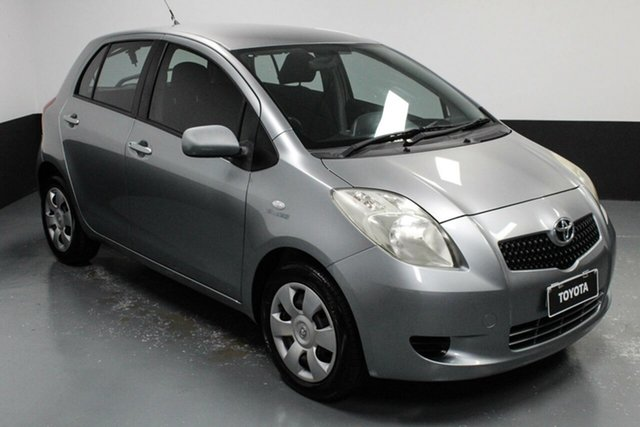 Used Toyota Yaris NCP91R YRS Hamilton, 2008 Toyota Yaris NCP91R YRS Silver, Chrome 5 Speed Manual Hatchback
