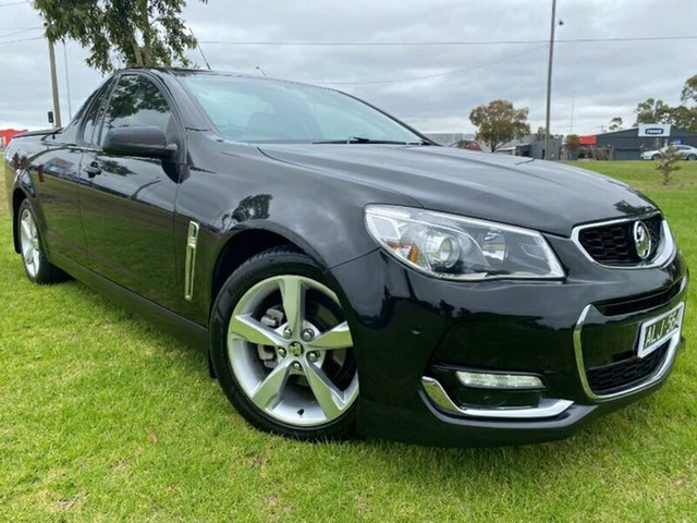 Used Holden Ute VF II MY16 SV6 Ute Ravenhall, 2016 Holden Ute VF II MY16 SV6 Ute Black 6 Speed Sports Automatic Utility