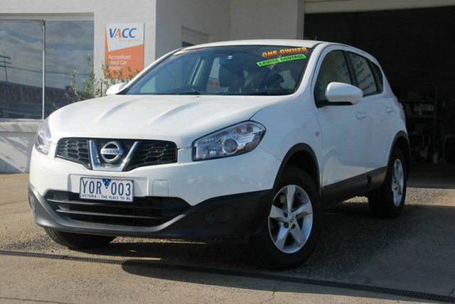 Used Nissan Dualis J10 Series II ST (4x2) Wendouree, 2011 Nissan Dualis J10 Series II ST (4x2) White 6 Speed CVT Auto Sequential Wagon