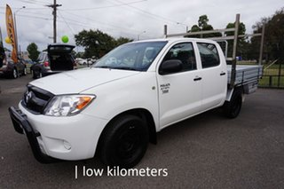 2007 Toyota Hilux TGN16R MY07 Workmate 4x2 Glacier White 5 Speed Manual Utility.