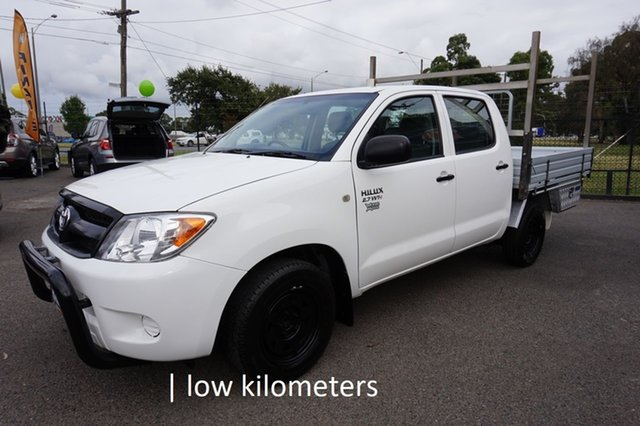 Used Toyota Hilux TGN16R MY07 Workmate 4x2 Dandenong, 2007 Toyota Hilux TGN16R MY07 Workmate 4x2 Glacier White 5 Speed Manual Utility
