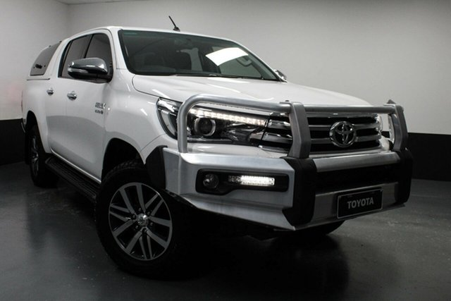 Used Toyota Hilux GUN126R SR5 Double Cab Rutherford, 2016 Toyota Hilux GUN126R SR5 Double Cab White 6 Speed Sports Automatic Utility