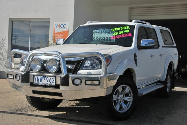 Used Ford Ranger PK Wildtrak (4x4) Wendouree, 2010 Ford Ranger PK Wildtrak (4x4) White 5 Speed Automatic Dual Cab Pick-up