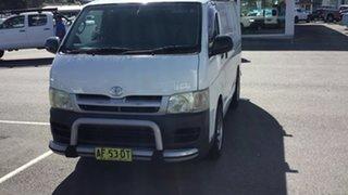 2005 Toyota HiAce TRH201R LWB White 5 Speed Manual Van.
