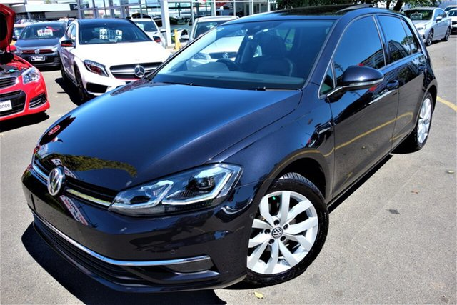 Used Volkswagen Golf 7.5 MY18 110TSI DSG Highline Seaford, 2017 Volkswagen Golf 7.5 MY18 110TSI DSG Highline Black 7 Speed Sports Automatic Dual Clutch