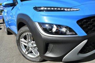 2020 Hyundai Kona 0S.V4 MY21 (FWD) Surfy Blue Continuous Variable Wagon.