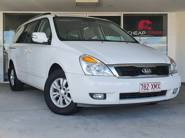 Used Kia Grand Carnival VQ MY13 SI Brendale, 2013 Kia Grand Carnival VQ MY13 SI White 6 Speed Sports Automatic Wagon