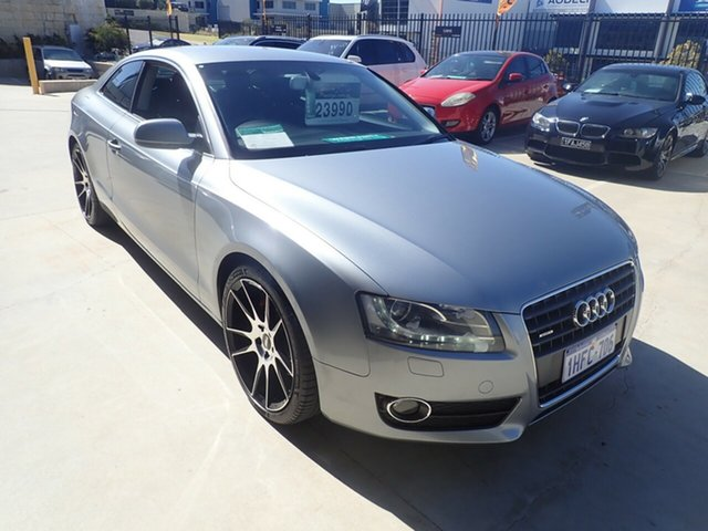 Used Audi A5 8T MY13 S Tronic Quattro Wangara, 2012 Audi A5 8T MY13 S Tronic Quattro Grey Metallic 7 Speed Sports Automatic Dual Clutch Coupe