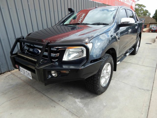 Used Ford Ranger PX XLT Double Cab Blair Athol, 2013 Ford Ranger PX XLT Double Cab Grey 6 Speed Sports Automatic Utility
