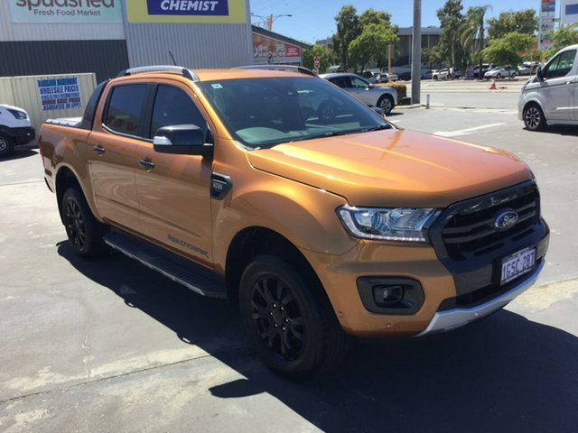 Used Ford Ranger PX MkII 2018.00MY Wildtrak Double Cab Morley, 2018 Ford Ranger PX MkII 2018.00MY Wildtrak Double Cab Saber 6 Speed Sports Automatic Utility