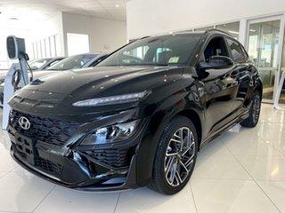 2020 Hyundai Kona Os.v4 MY21 Phantom Black 7 Speed Sports Automatic Dual Clutch Wagon.