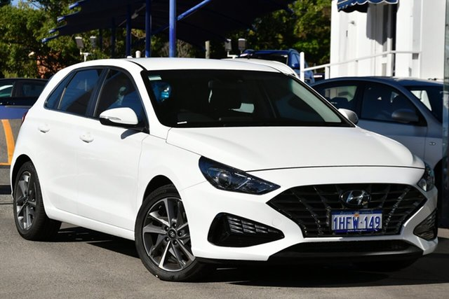 Demo Hyundai i30 PD.V4 MY21 Active Victoria Park, 2020 Hyundai i30 PD.V4 MY21 Active Polar White 6 Speed Sports Automatic Hatchback