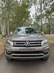 2020 Volkswagen Amarok 2H MY21 TDI550 4MOTION Perm Sportline Mojave Beige 8 Speed Automatic Utility.