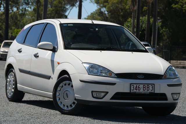 Used Ford Focus LR MY2003 CL Beaudesert, 2002 Ford Focus LR MY2003 CL White 5 Speed Manual Hatchback