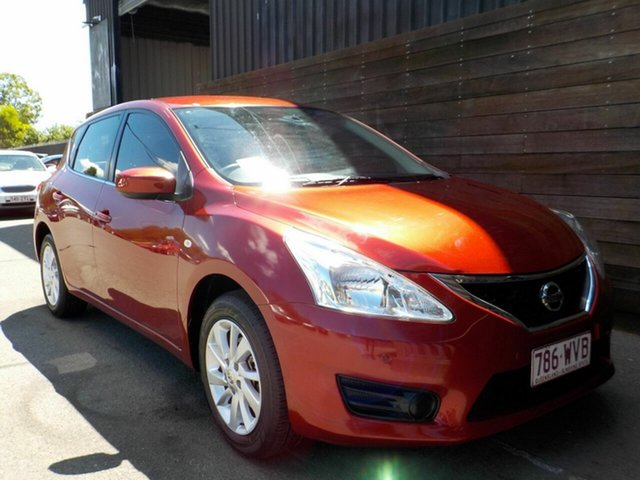 Used Nissan Pulsar C12 Series 2 ST Labrador, 2016 Nissan Pulsar C12 Series 2 ST Red 1 Speed Constant Variable Hatchback