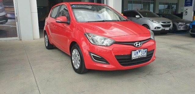 Used Hyundai i20 PB MY13 Active Ravenhall, 2013 Hyundai i20 PB MY13 Active Red 4 Speed Automatic Hatchback