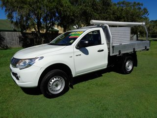 2015 Mitsubishi Triton MN MY15 GLX 4x2 White 5 Speed Manual Cab Chassis.