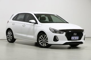 2018 Hyundai i30 PD Active White 6 Speed Auto Sequential Hatchback.