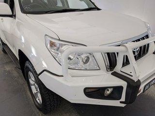 2011 Toyota Landcruiser Prado GRJ150R GXL White 5 Speed Sports Automatic Wagon.
