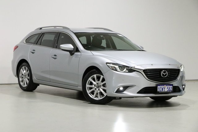 Used Mazda 6 6C MY15 Touring Bentley, 2015 Mazda 6 6C MY15 Touring Silver 6 Speed Automatic Wagon