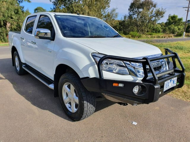 Used Isuzu D-MAX LS-U High Ride Geelong, 2014 Isuzu D-MAX (No Series) LS-U High Ride White Sports Automatic Utility