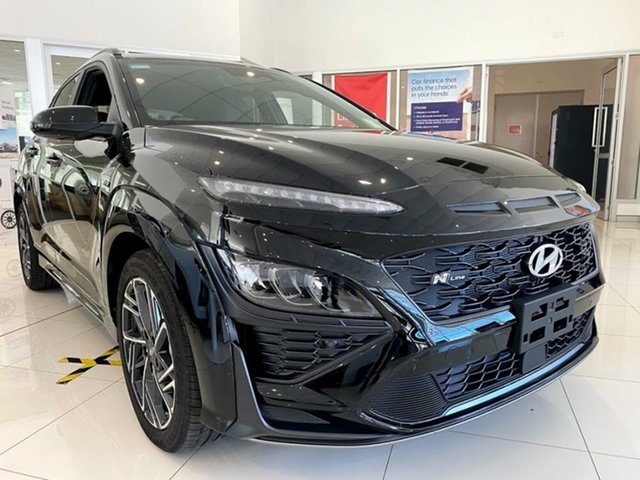 New Hyundai Kona Os.v4 MY21 Mount Gravatt, 2020 Hyundai Kona Os.v4 MY21 Phantom Black 7 Speed Sports Automatic Dual Clutch Wagon