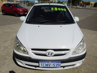 2006 Hyundai Getz TB MY06 White 5 Speed Manual Hatchback.