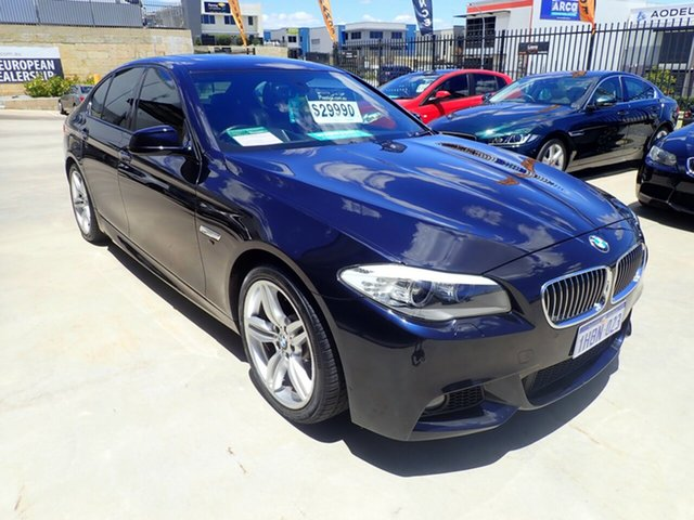 Used BMW 5 Series F10 MY11 528i Steptronic Wangara, 2011 BMW 5 Series F10 MY11 528i Steptronic Black Magic 8 Speed Sports Automatic Sedan