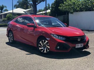 2018 Honda Civic 10th Gen MY18 VTi-S Red 1 Speed Constant Variable Hatchback.