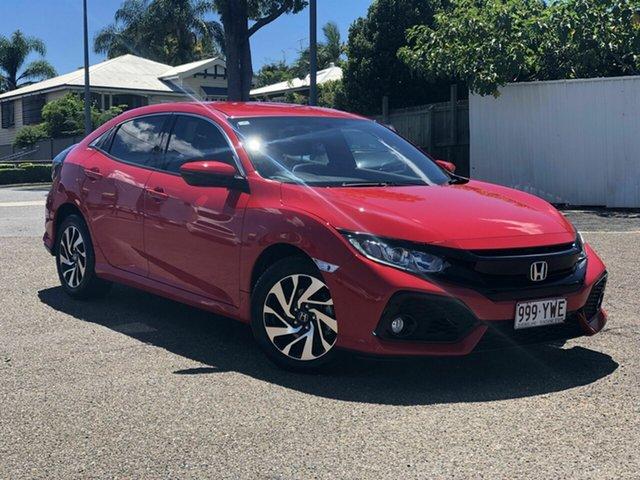 Used Honda Civic 10th Gen MY18 VTi-S Chermside, 2018 Honda Civic 10th Gen MY18 VTi-S Red 1 Speed Constant Variable Hatchback