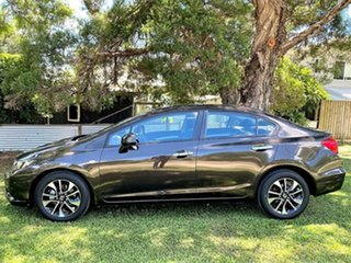2014 Honda Civic 9th Gen Ser II MY14 VTi-S Golden Brown 5 Speed Sports Automatic Sedan.