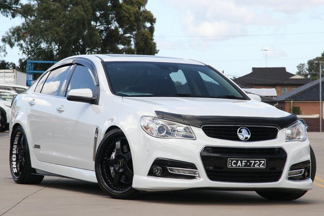 Used Holden Commodore VF SS-V Redline Chullora, 2014 Holden Commodore VF SS-V Redline White 6 Speed Automatic Sedan