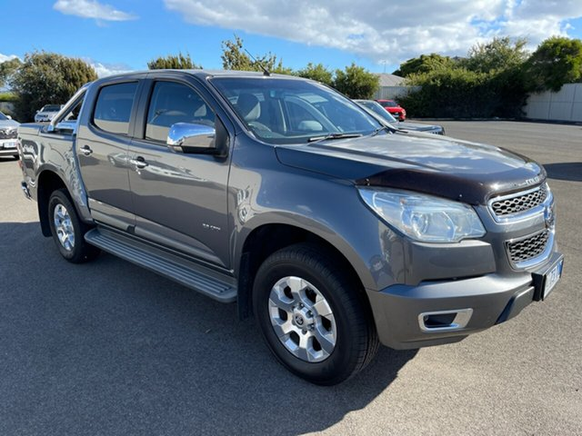 Used Holden Colorado RG MY14 LTZ Crew Cab Devonport, 2014 Holden Colorado RG MY14 LTZ Crew Cab Grey/4bc 6 Speed Manual Utility