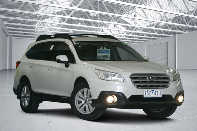 Used Subaru Outback MY16 2.0D AWD Altona North, 2017 Subaru Outback MY16 2.0D AWD White Continuous Variable Wagon