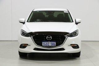 2017 Mazda 3 BN MY17 SP25 GT White 6 Speed Manual Sedan.