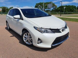 2012 Toyota Corolla ZRE182R Ascent Sport S-CVT Glacier White 7 Speed Constant Variable Hatchback.