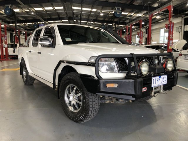 Pre-Owned Nissan Navara D40 ST-X Oakleigh, 2008 Nissan Navara D40 ST-X White 6 Speed Manual Utility