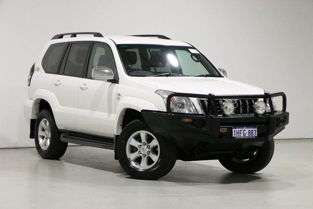 Used Toyota Landcruiser Prado KDJ120R 07 Upgrade GXL (4x4) Bentley, 2009 Toyota Landcruiser Prado KDJ120R 07 Upgrade GXL (4x4) White 5 Speed Automatic Wagon