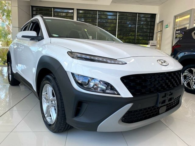 New Hyundai Kona Os.v4 MY21 2WD Mount Gravatt, 2020 Hyundai Kona Os.v4 MY21 2WD Atlas White 8 Speed Constant Variable Wagon