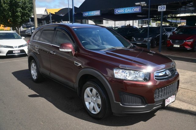 Used Holden Captiva CG MY14 7 LS (FWD) Toowoomba, 2014 Holden Captiva CG MY14 7 LS (FWD) Maroon 6 Speed Automatic Wagon