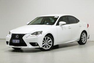 2014 Lexus IS300H AVE30R Luxury Hybrid White Continuous Variable Sedan.