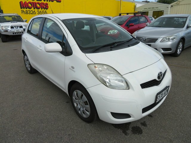 Used Toyota Yaris NCP91R 08 Upgrade YRS Morphett Vale, 2009 Toyota Yaris NCP91R 08 Upgrade YRS White 5 Speed Manual Hatchback