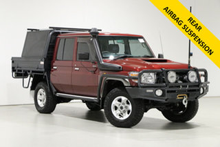 2018 Toyota Landcruiser VDJ79R GXL (4x4) Merlot 5 Speed Manual Double Cab Chassis.